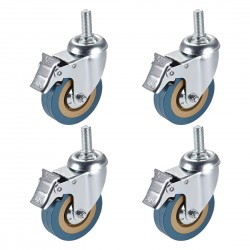 4PCS Heavy Duty 3 Inch Castor Wheels with Brake