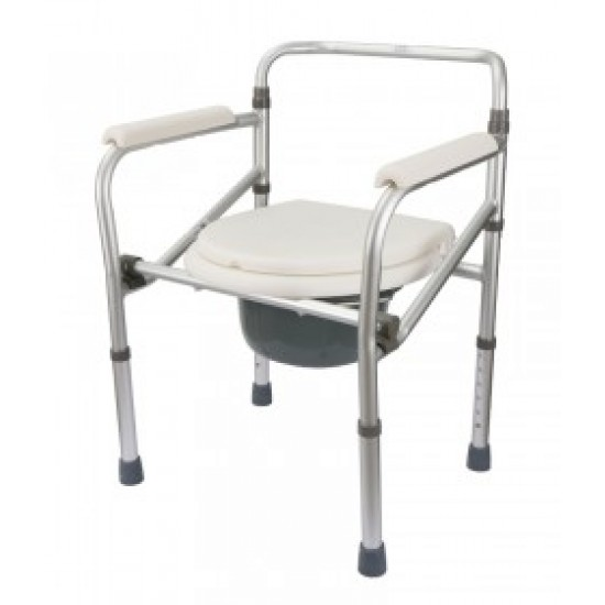 Aluminium Height Adjustable Commode Chair