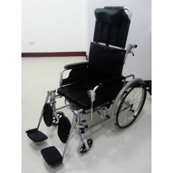 Aluminium Reclining Wheelchair with Commode
