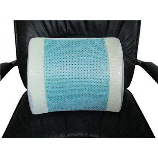 Bael Wellness Lumbar Support Back Cushion & Pillow Gel Enhanced Memory Foam with Mesh Cover