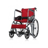 Basic Premium Wheel Chair Powder Coated-Red