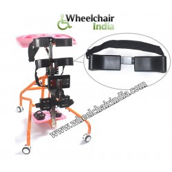 Cerebral Palsy Child Standing Wheelchair with Food Table