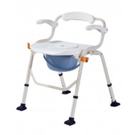 Deluxe Commode Shower Chair with Armrest
