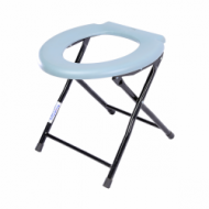 Foldable Bathroom Commode Stool