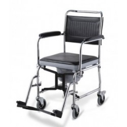 Foldable Frame Shower Commode Chair