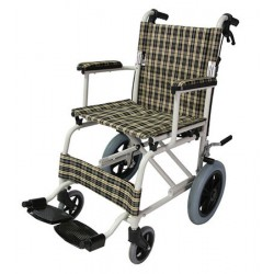 Foldable Powder Coated Travel Wheelchair
