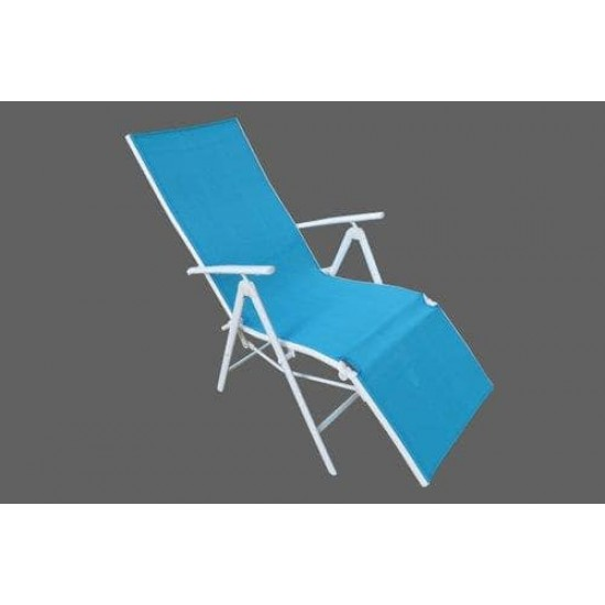 Folding Reclining Chair Leg Frame Blue