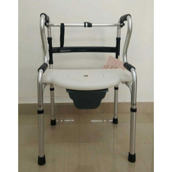 Folding Walker With Commode Seat