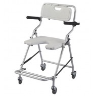 Front Cut Aluminium Compact Lightweight Shower Wheel Chair