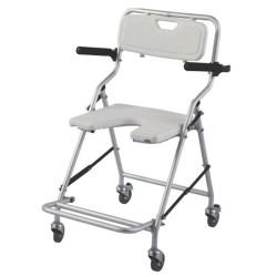 Front Cut Aluminium Compact Lightweight Shower Wheel Chair