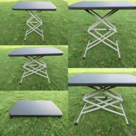 Height Adjustable Variable Table Black