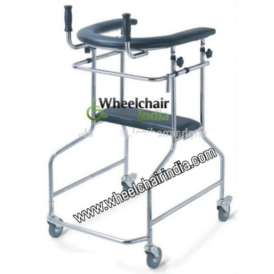 Lightweight Aluminum Folding Adjustable Standing Walker For Adults