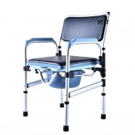 Lightweight Folding Aluminum Shower Commode Chair