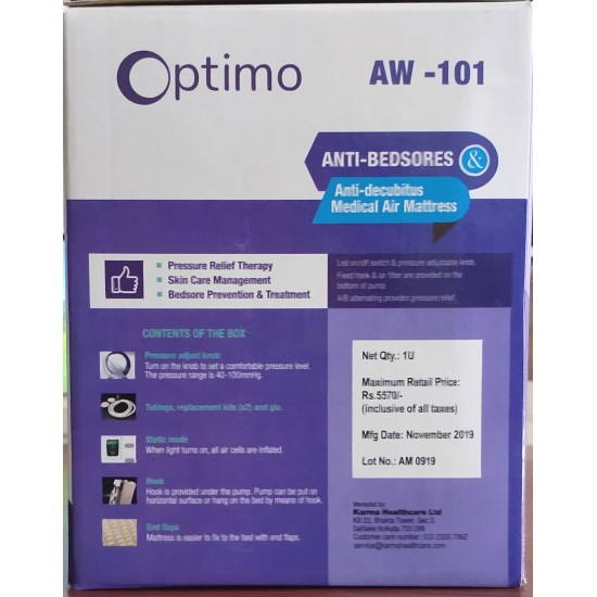 Optimo Anti Bedsore & Anti Decubitus Medical Air Mattress