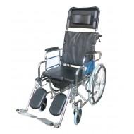 608 GC Reclining Commode Wheelchair