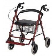 Premium Imported Folding Rollator Walker with Seat & Footrest