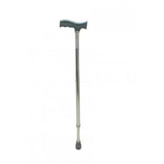 Ryder-121 Height Adjustable Walking Stick Silver