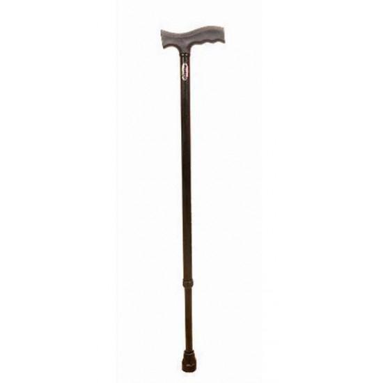 Ryder-121 Height Adjustable Walking Stick Black