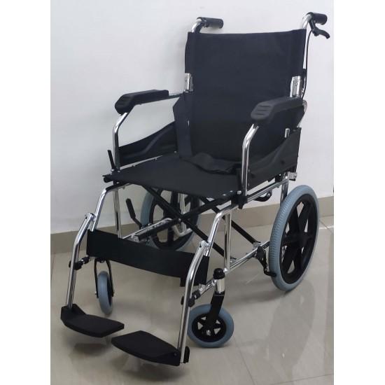 Transit Wheelchair with Flip Up Armrest & Footrest