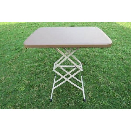 Variable Height Table Brown