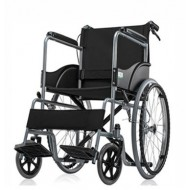 Basic Wheel Chair Powder Coated-Black