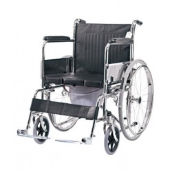 Wheelchair with U Cut Commode