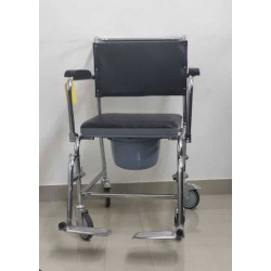 Wheeled Commode Chair