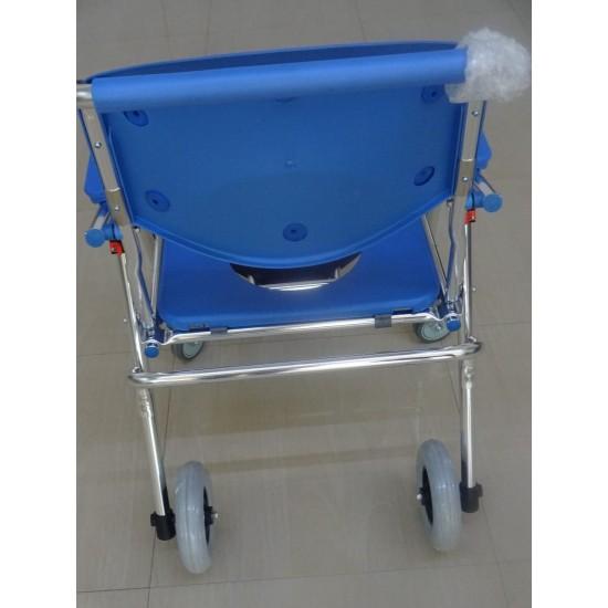 Aluminium Shower Commode Chair Lightweight Foldable