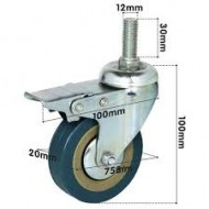 Commode Chair Wheel Caster 3 Inch With Brake