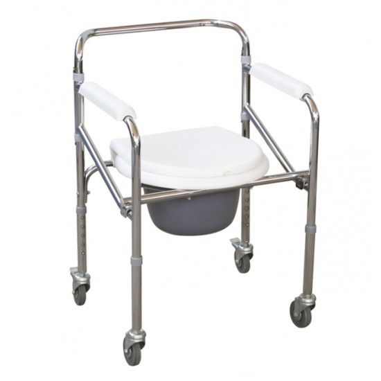 Folding Height Adjustable Commode Chair 696