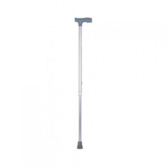 Height Adjustable Walking Stick Silver