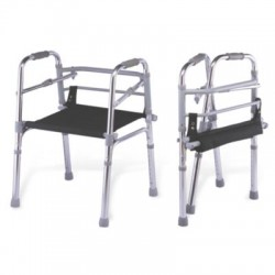 Lightweight Foldable Height Adjustable Walker With Seat