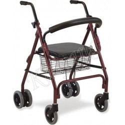 Rollator Walker with Push Down Braking System