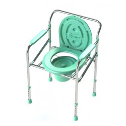 Tynor Foldable Height Adjustable Commode Chair