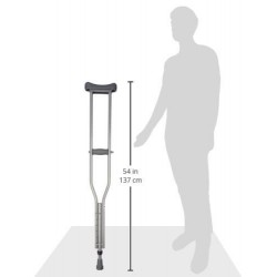 Vissco Astra Under Arm Crutches Aluminium - Medium (1 Pair)