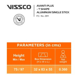Vissco Avanti Plus T Shape Aluminium Single Stick