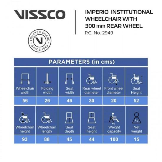 Vissco Imperio Institutional 300mm Wheels Wheelchair