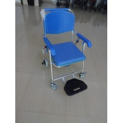 Aluminium Shower Commode Chair Lightweight Foldable